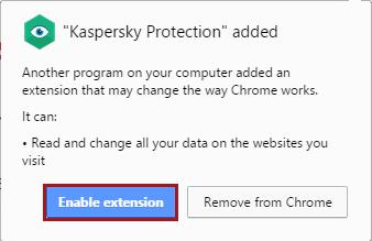 Kaspersky Protection, module complémentaire, extension pour navigateurs, internet explorer, mozilla firefox, chrome, disponible avec les solutions de sécurité Kaspersky